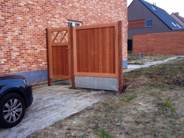 Tuindeur en scherm hout - padoek
