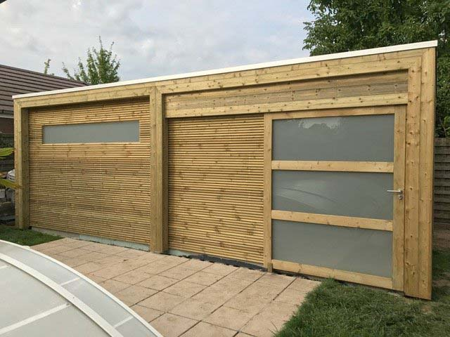 Tuinhuis - houtconstructies