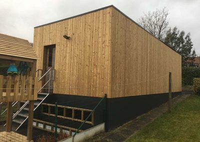 Uitbekleden gevel bijgebouw hout - Pype Houthandel