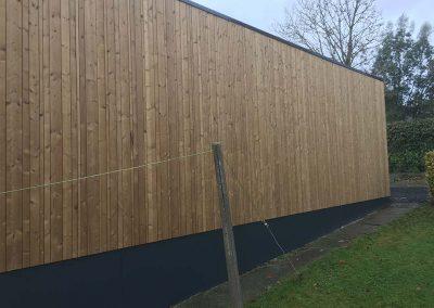 Uitbekleden gevel - muur hout