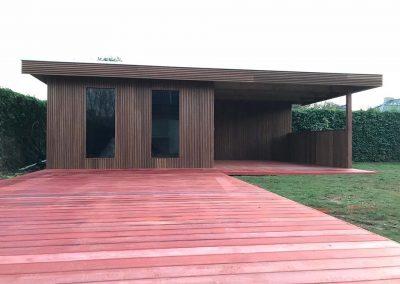 Aanleg terras en tuinhuis - Pype Houthandel