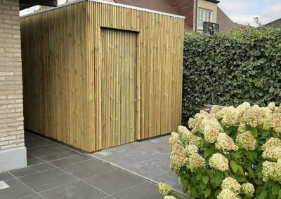 Bijgebouw hout - Bijgebouw in hout - Pype houthandel - Menen