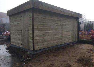 Dubbel tuinhuis - plaatsing - Bijgebouw in hout - Pype houthandel