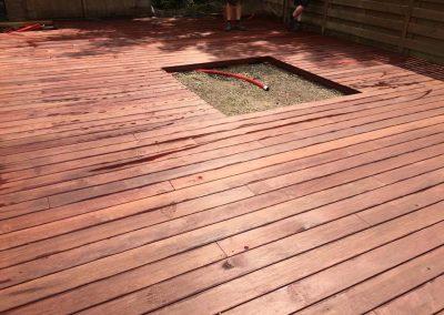 Terrasaanleg in hout - padouk - Pype Houthandel