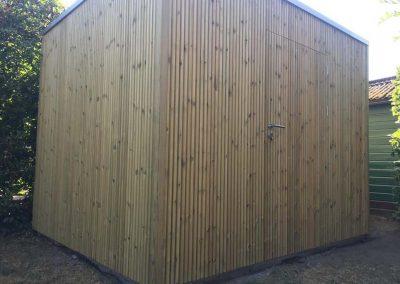 Tuinhuis - fijne houtlatjes - Pype houthandel