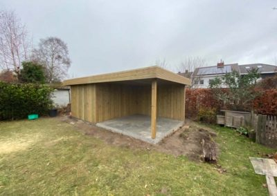 Tuinhuis met overdekt terras - Pype houthandel - West- Vlaanderen