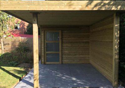 Tuinhuis met terras en overkapping - Pype houthandel
